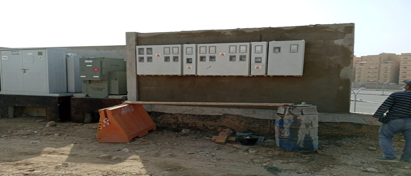 Execution of electrical works in Lolo hypermarket project